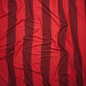 Red Wide Stripe Lightweight Jersey Knit Fabric By The Yard - Wide shot