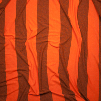 Orange Wide Stripe Lightweight Jersey Knit Fabric By The Yard - Wide shot