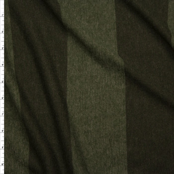 Olive Wide Stripe Lightweight Jersey Knit Fabric By The Yard