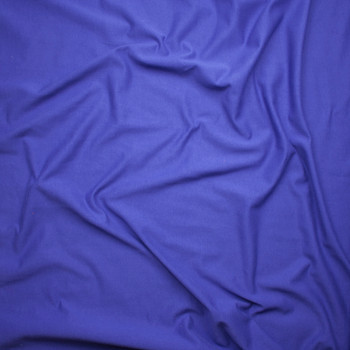 Violet Blue Midweight Cotton French Terry Fabric By The Yard - Wide shot