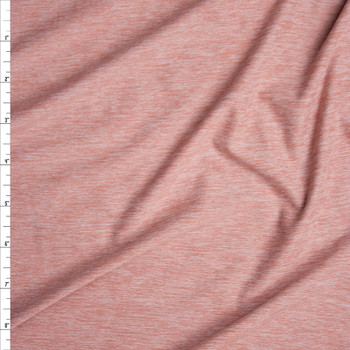 Dusty Pink Heather Double Brushed Poly Spandex Fabric By The Yard
