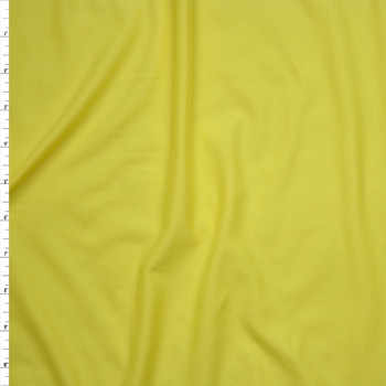 Canary Yellow Double Brushed Poly/Spandex Knit Fabric By The Yard
