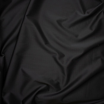 Solid Black Scuba Knit Fabric By The Yard - Wide shot