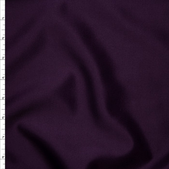 Solid Plum Scuba Knit Fabric By The Yard