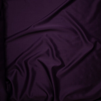 Solid Plum Scuba Knit Fabric By The Yard - Wide shot
