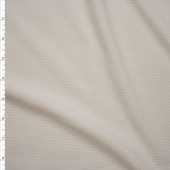 Solid Offwhite Braided Texture Liverpool Knit Fabric By The Yard