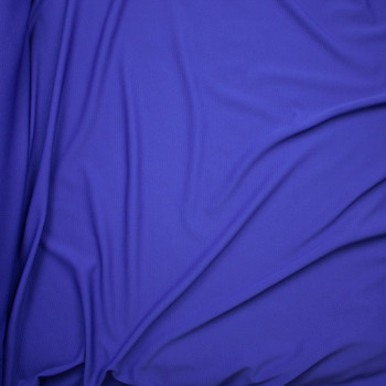 Solid Royal Blue Braided Texture Liverpool Knit Fabric By The Yard - Wide shot