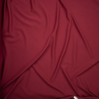 Solid Burgundy Braided Texture Liverpool Knit Fabric By The Yard - Wide shot