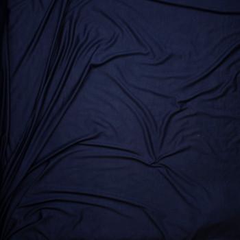 Navy Blue Lightweight 4-way Stretch Rayon Lycra Jersey Knit Fabric By The Yard - Wide shot