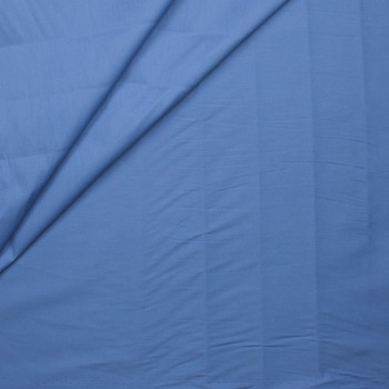 Slate Blue Stretch Cotton Broadcloth Fabric By The Yard - Wide shot