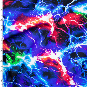 Multi Lightning Premium 5.8oz Nylon/Lycra Fabric By The Yard