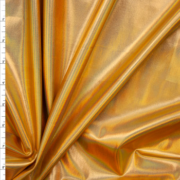 Premium Gold Iridescent Lycra Lame Fabric By The Yard