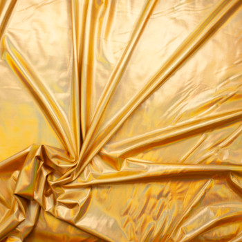 Premium Gold Iridescent Lycra Lame Fabric By The Yard - Wide shot