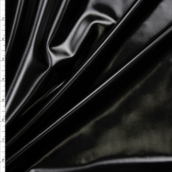 Premium Gloss Black Lycra Lame Fabric By The Yard