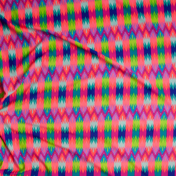 Neon Abstract Pattern Nylon/Lycra Fabric By The Yard - Wide shot