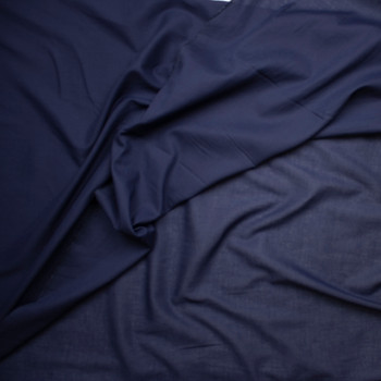 Navy Blue Cotton Lawn Fabric By The Yard - Wide shot