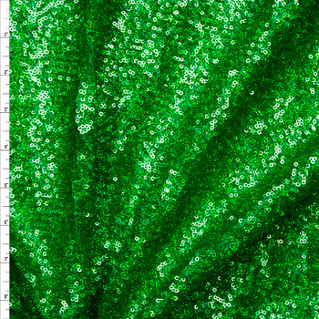 Green Holographic 4-way Stretch Micro Sequin Fabric Fabric By The Yard