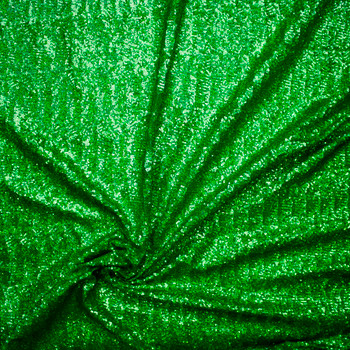 Green Holographic 4-way Stretch Micro Sequin Fabric Fabric By The Yard - Wide shot