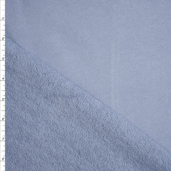 Slate Blue Heavyweight Cotton French Terry Fabric By The Yard