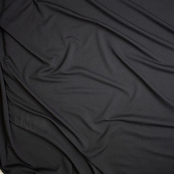 Black Cris-Cross Textured Double Knit Fabric By The Yard - Wide shot
