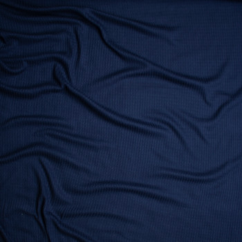 Navy Soft Waffle Knit Fabric By The Yard - Wide shot