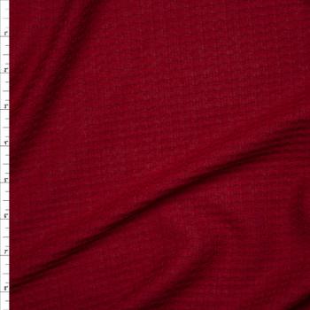 Wine Soft Waffle Sweater Knit Fabric By The Yard
