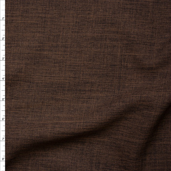 Brown Linen Look Suiting Fabric By The Yard