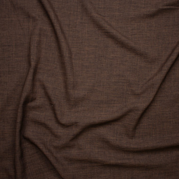 Brown Linen Look Suiting Fabric By The Yard - Wide shot