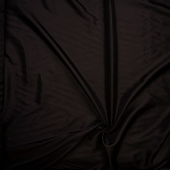 Dark Brown Rayon Lining Fabric By The Yard - Wide shot
