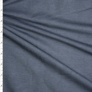 Midweight Charcoal Organic Cotton/Bamboo Stretch French Terry Fabric By The Yard
