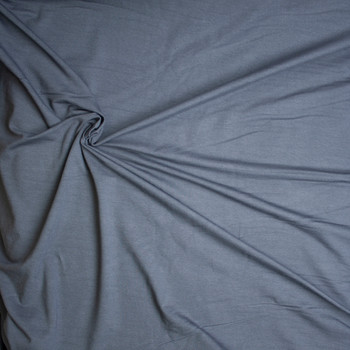 Midweight Charcoal Organic Cotton/Bamboo Stretch French Terry Fabric By The Yard - Wide shot