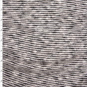 6278f0f797b Black and Offwhite Stripe Organic Cotton/Tencel Midweight Sweater Knit  Fabric By The Yard ...