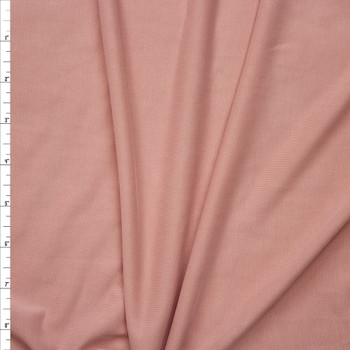 Soft Peach Brushed Poly/Modal Jersey Knit Fabric By The Yard