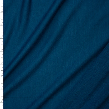 Teal Lightweight Poly/Rayon French Terry Fabric By The Yard