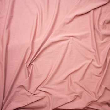Dusty Rose Light Midweight Stretch Cotton Jersey Knit Fabric By The Yard - Wide shot