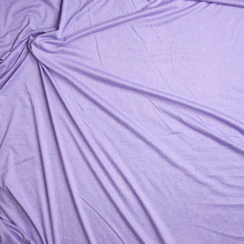 Lavender Heather Double Brushed Poly Spandex Fabric By The Yard - Wide shot