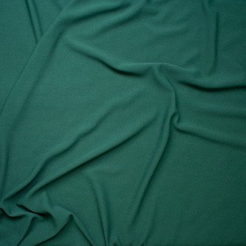 d4122072a97 ... Solid Hunter Green Braided Texture Liverpool Knit Fabric By The Yard -  Wide shot