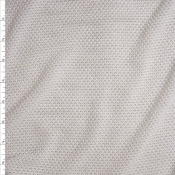 White Loose Weave Stretch Sweater Knit Fabric By The Yard