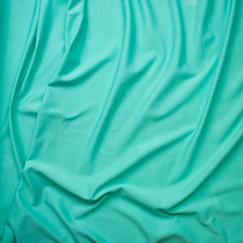 Mint Green Midweight Stretch Ponte De Roma Fabric By The Yard - Wide shot
