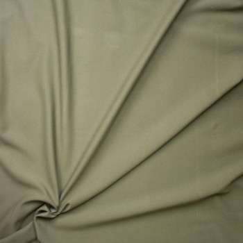 Taupe Heavyweight Stretch Ponte De Roma Fabric By The Yard - Wide shot