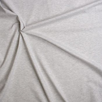Light Grey Heather Soft Midweight Stretch Ponte De Roma Fabric By The Yard - Wide shot