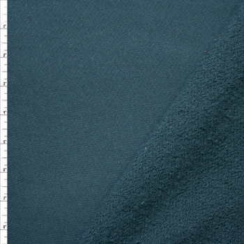 Teal Heavyweight Cotton French Terry Fabric By The Yard