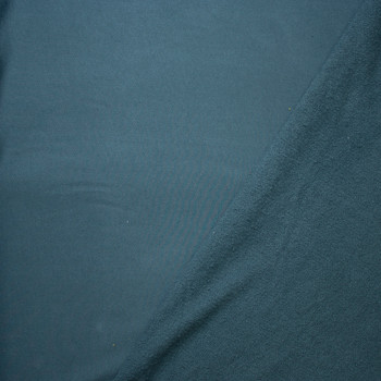 Teal Heavyweight Cotton French Terry Fabric By The Yard - Wide shot