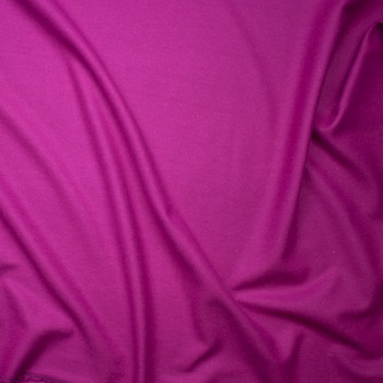 Hot Pink Solid Wool Coating Fabric By The Yard - Wide shot