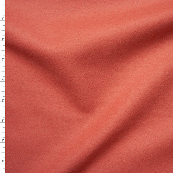 Coral Solid Wool Coating Fabric By The Yard