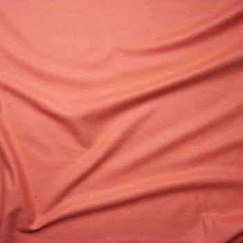Coral Solid Wool Coating Fabric By The Yard - Wide shot