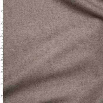 Light Tan Heather Wool Coating Fabric By The Yard
