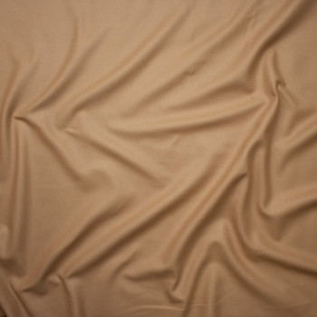 Tan Solid Wool Coating Fabric By The Yard - Wide shot