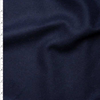 Navy Blue Solid Wool Coating Fabric By The Yard