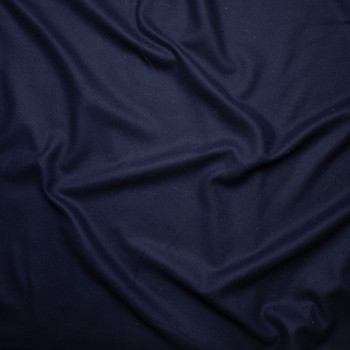 Navy Blue Solid Wool Coating Fabric By The Yard - Wide shot